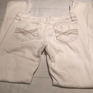 Mudd White Distressed Women's Jeans Size 5
